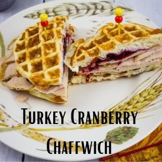 turkey cranberry chaffwich