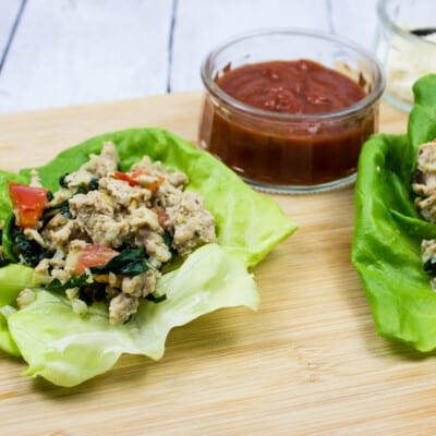 Italian-Style Ground Chicken Lettuce Wraps