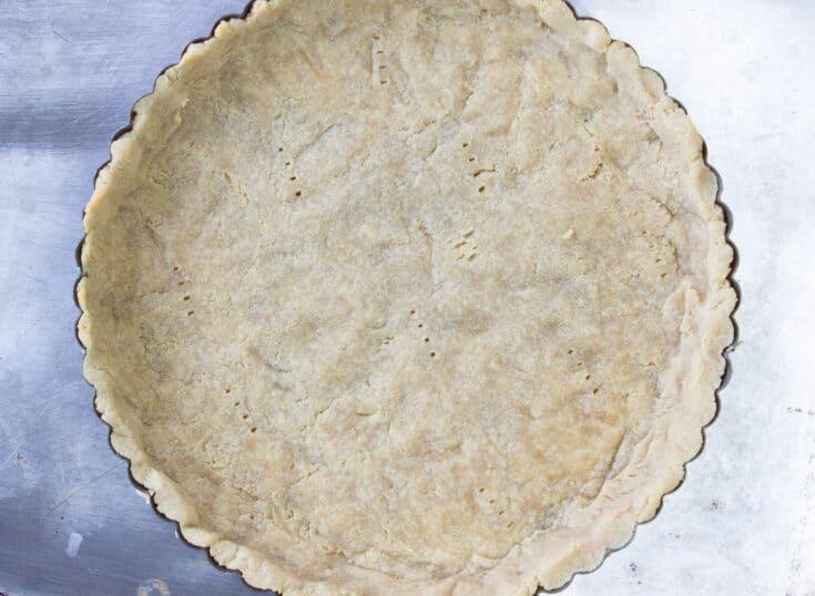 keto pie crust baked