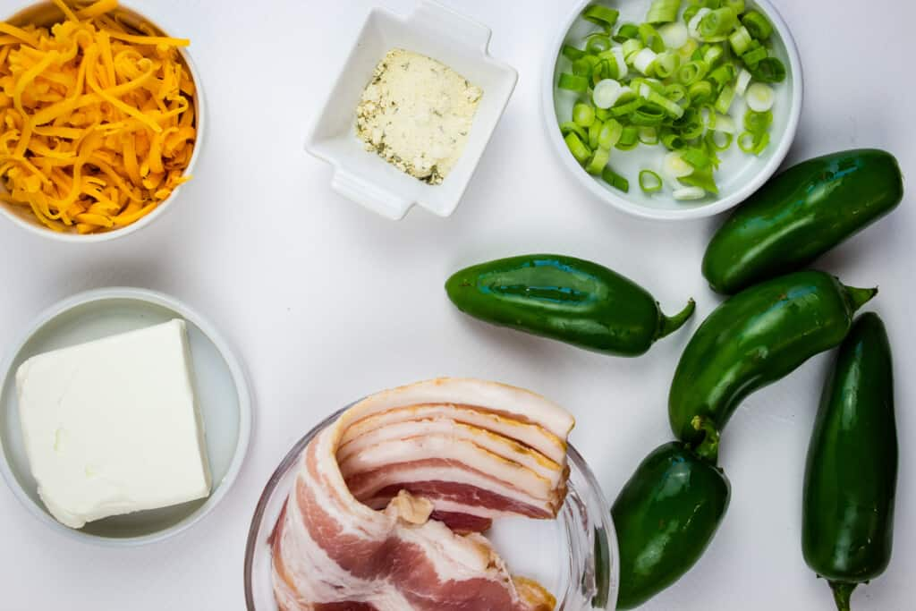 ingredients to make keto jalapeno poppers