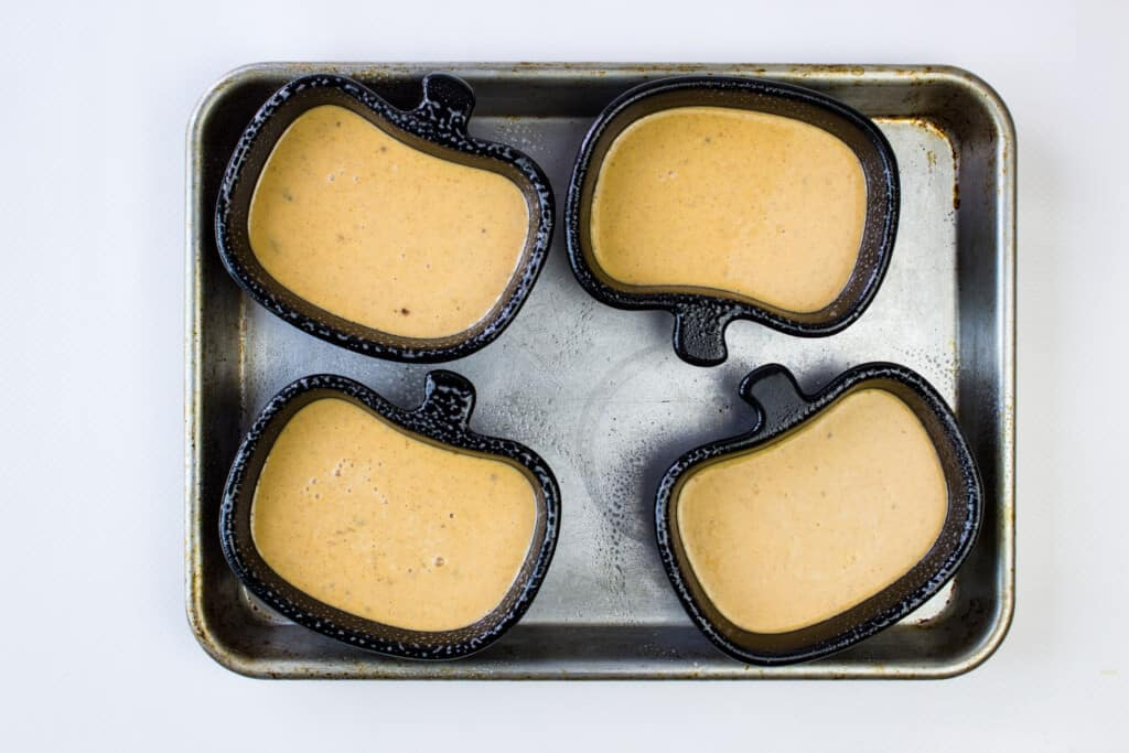 bake custards in oven-safe ramekins on a sheet pan