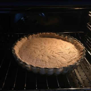 pre baking the keto pie crust