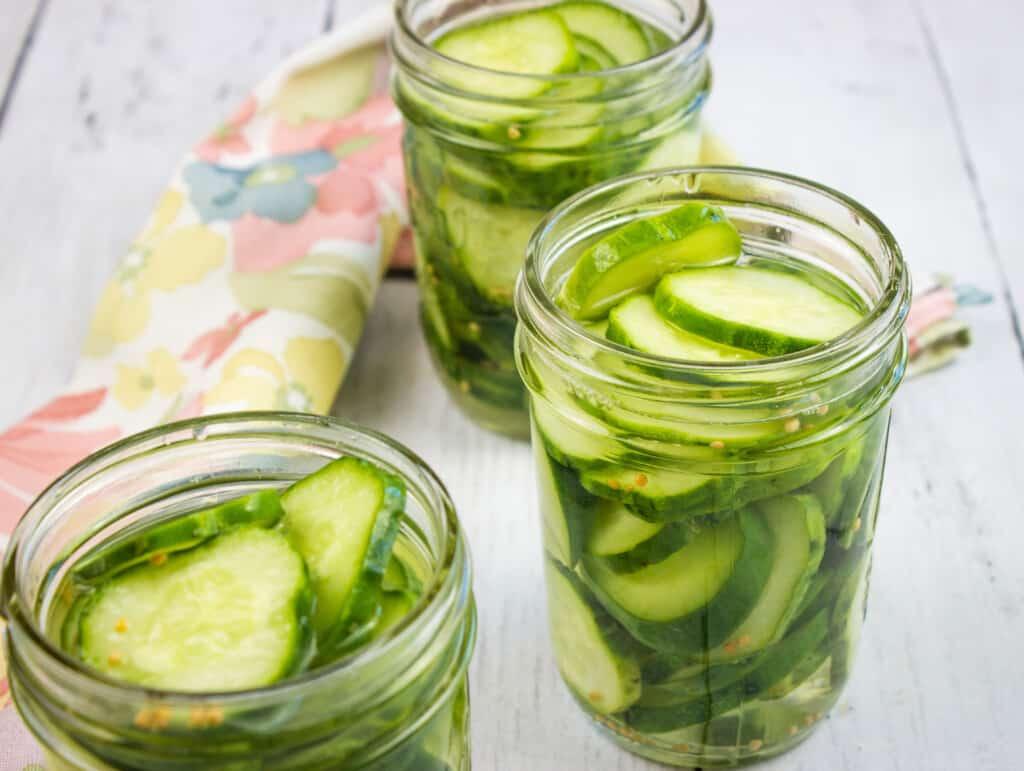 keto pickles in glass jars
