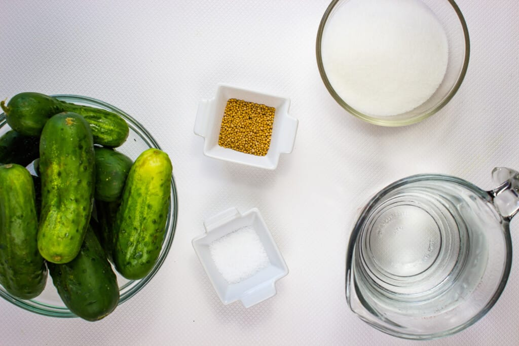 ingredients to make keto pickles