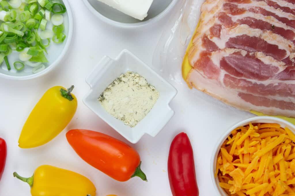 ingredients to make keto sweet pepper poppers