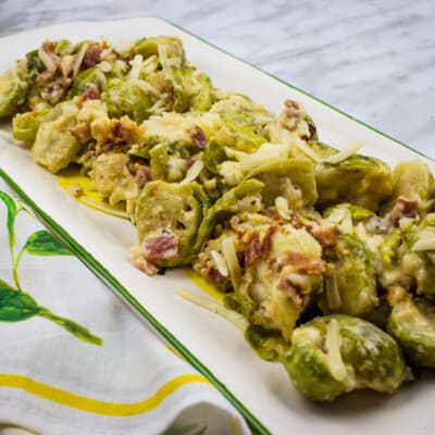 Keto Parmesan Brussels Sprouts with Bacon