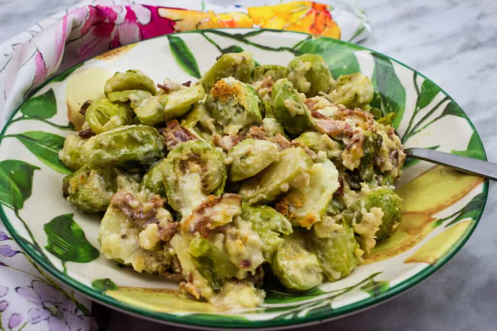 keto parmesan brussels sprouts