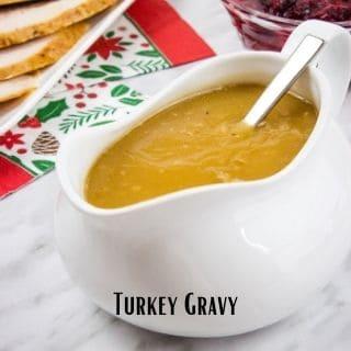keto turkey gravy in a gravy boat