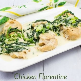 keto chicken florentine on a plate