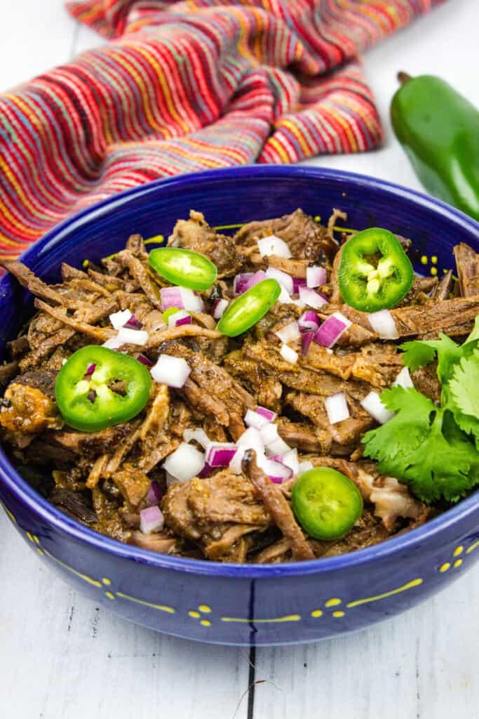keto beef barbacoa in a bowl