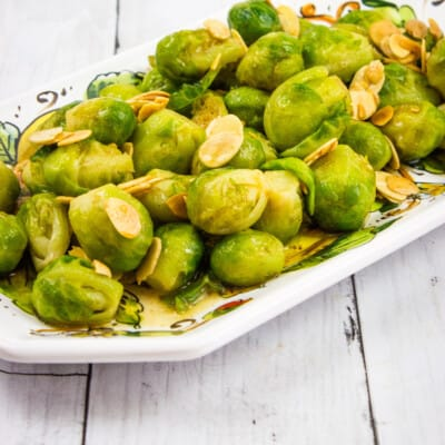 Easy Brussels Sprouts with Almonds & Brown Butter