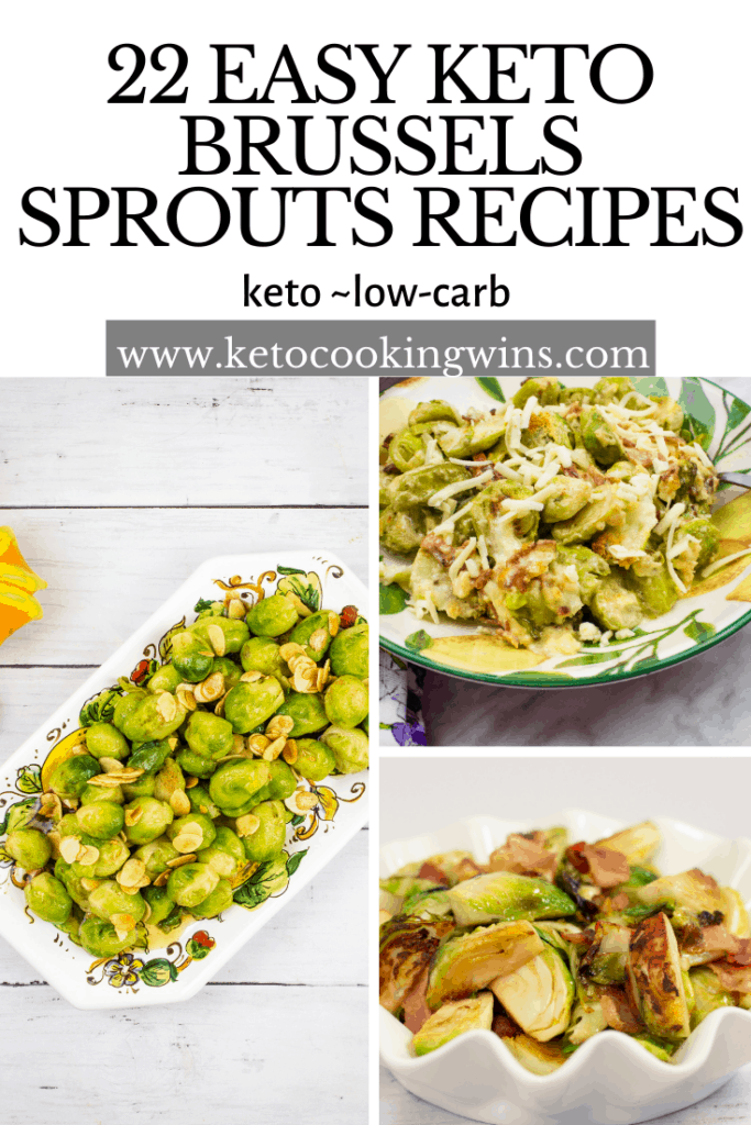 22 easy keto brussels sprouts recipes banner