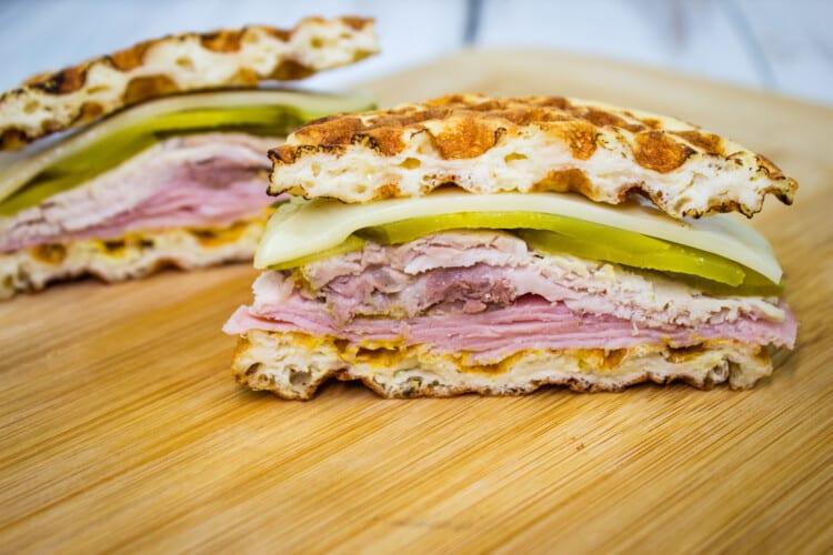 Cuban Chaffle Sandwich
