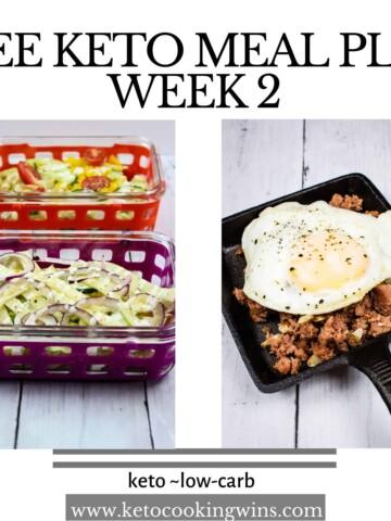 keto meal plan week 2