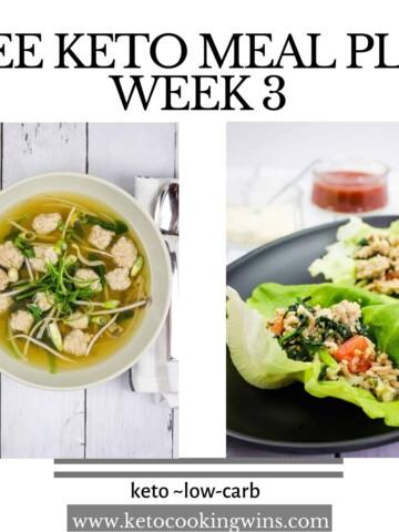 week three easy keto meal plan