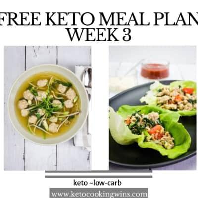 Easy Keto Meal Plan: Week 3