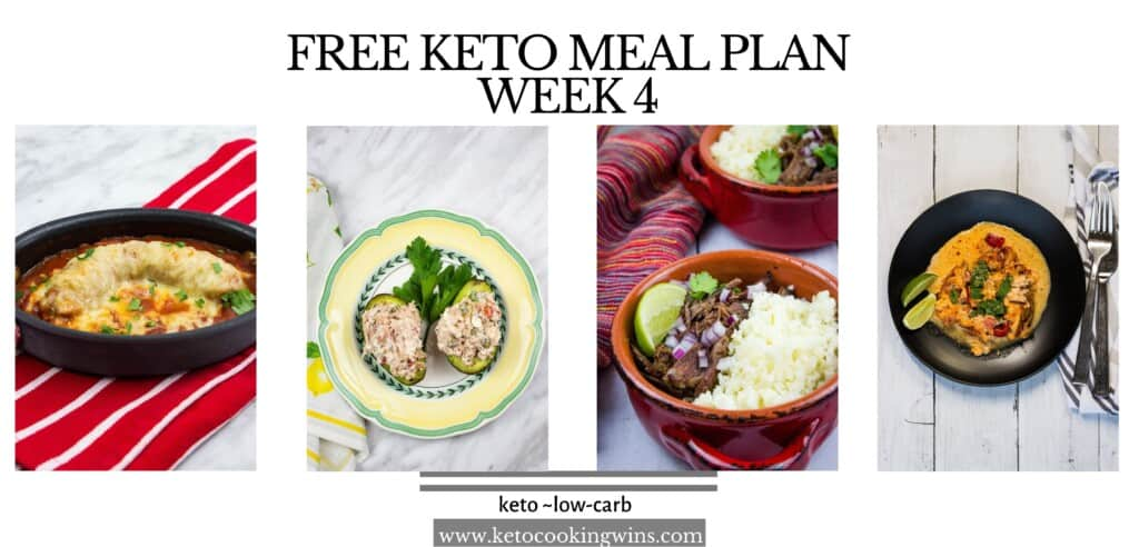 free keto meal plan banner week 4