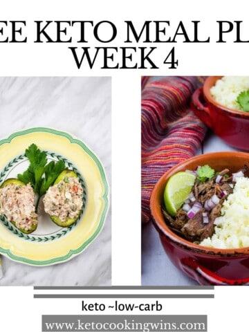 free keto meal plan banner week 4