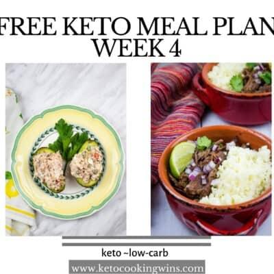 Easy Keto Meal Plan: Week 4