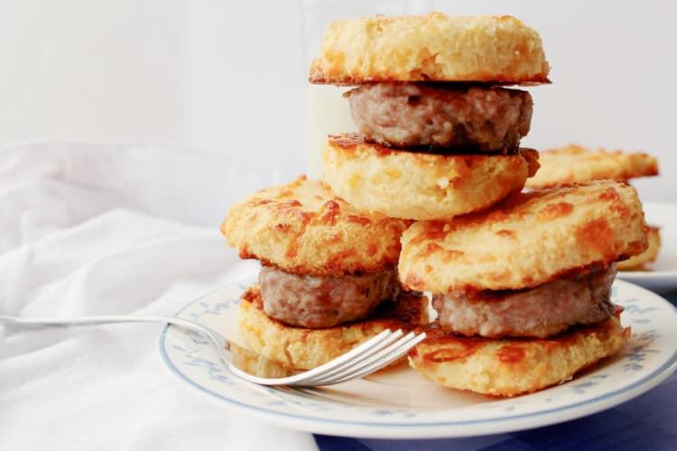 Keto Breakfast Sandwich with Sausage