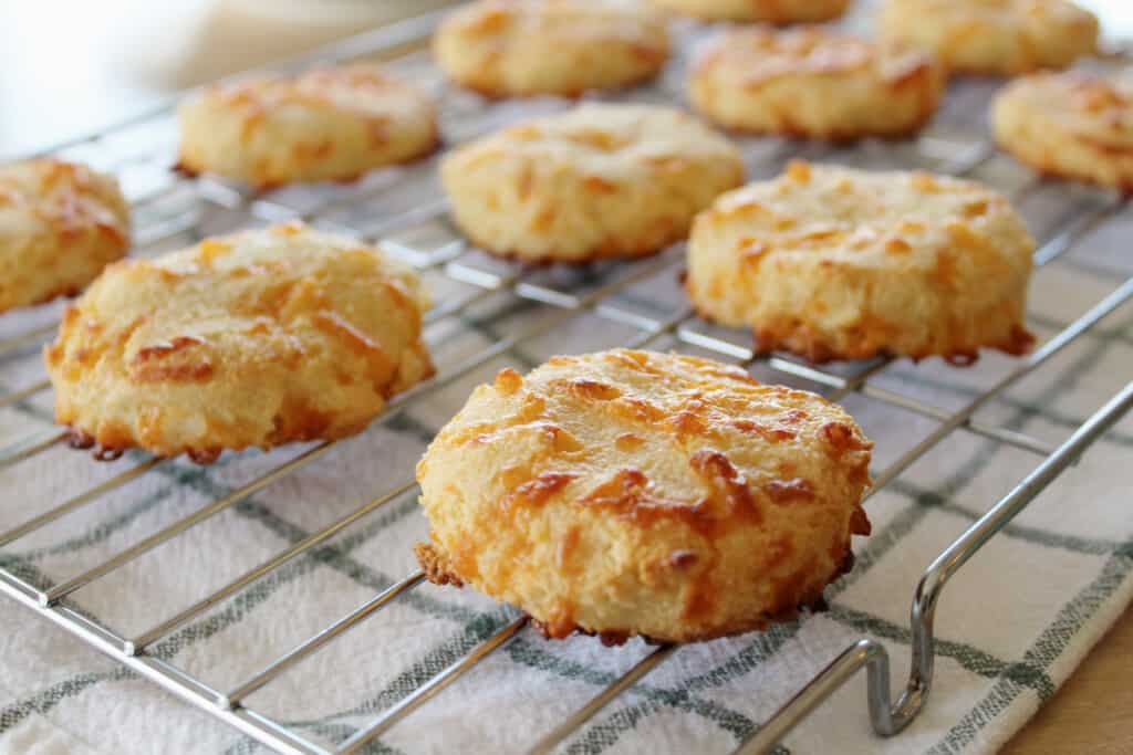 baked and delicious biscuits for keto breakfast sandwiches