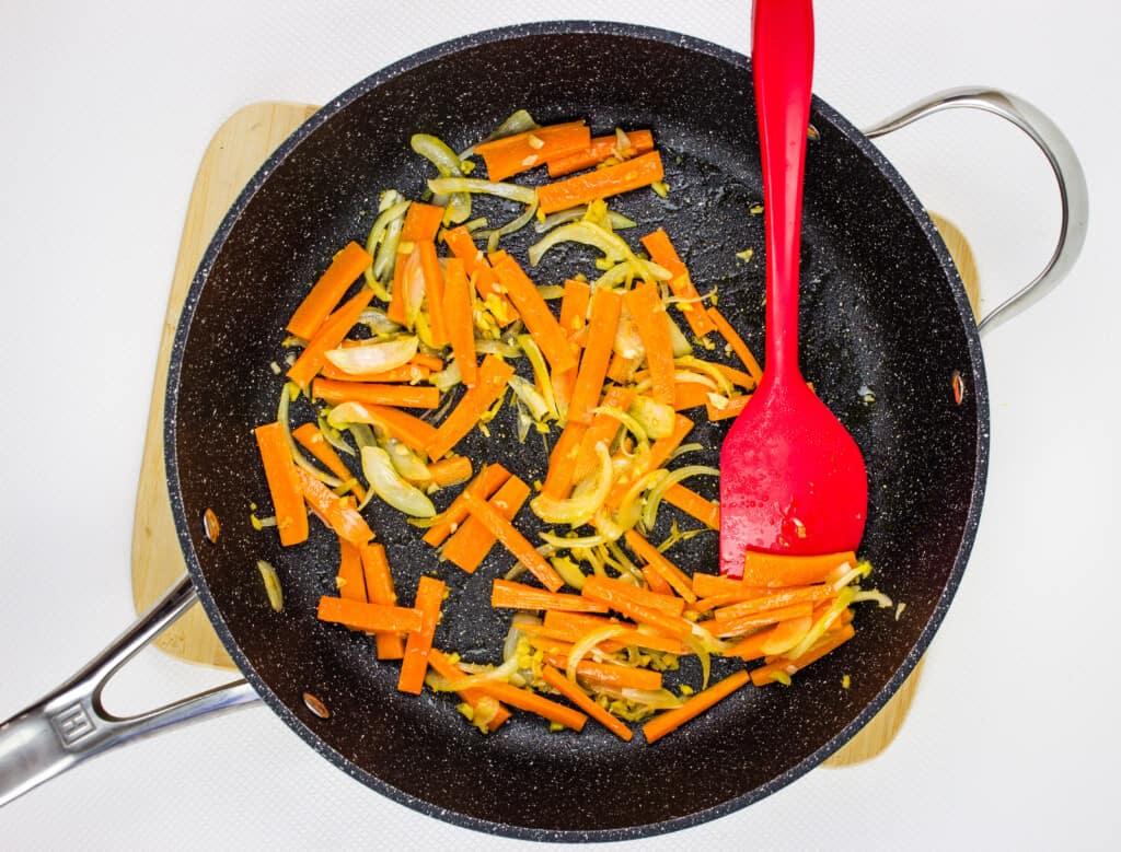 sautee the veggies
