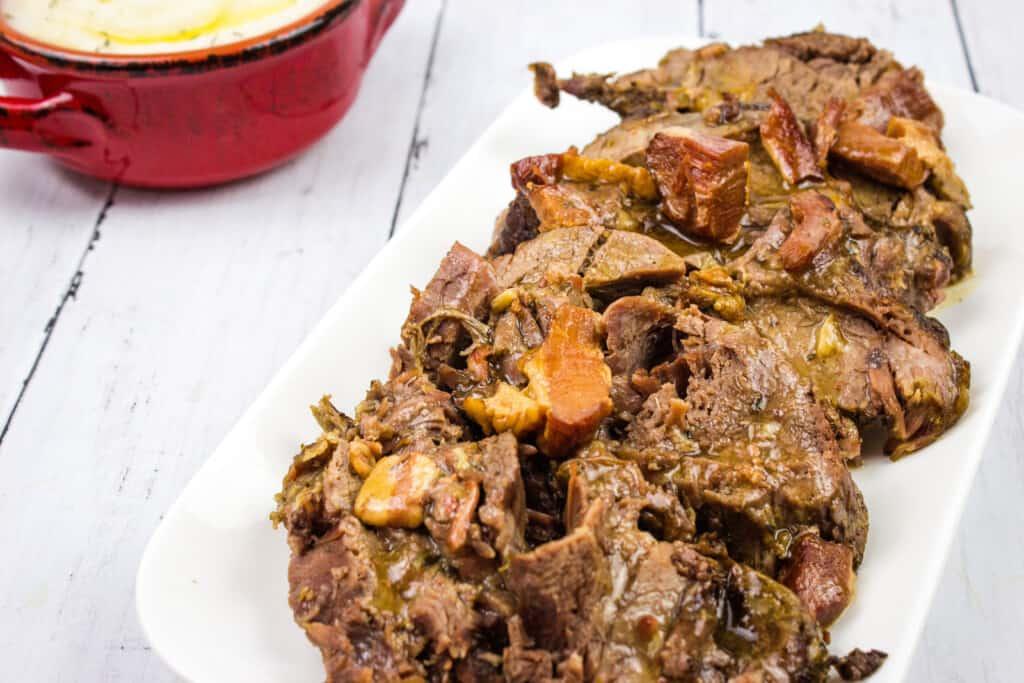 keto pot roast on a plate
