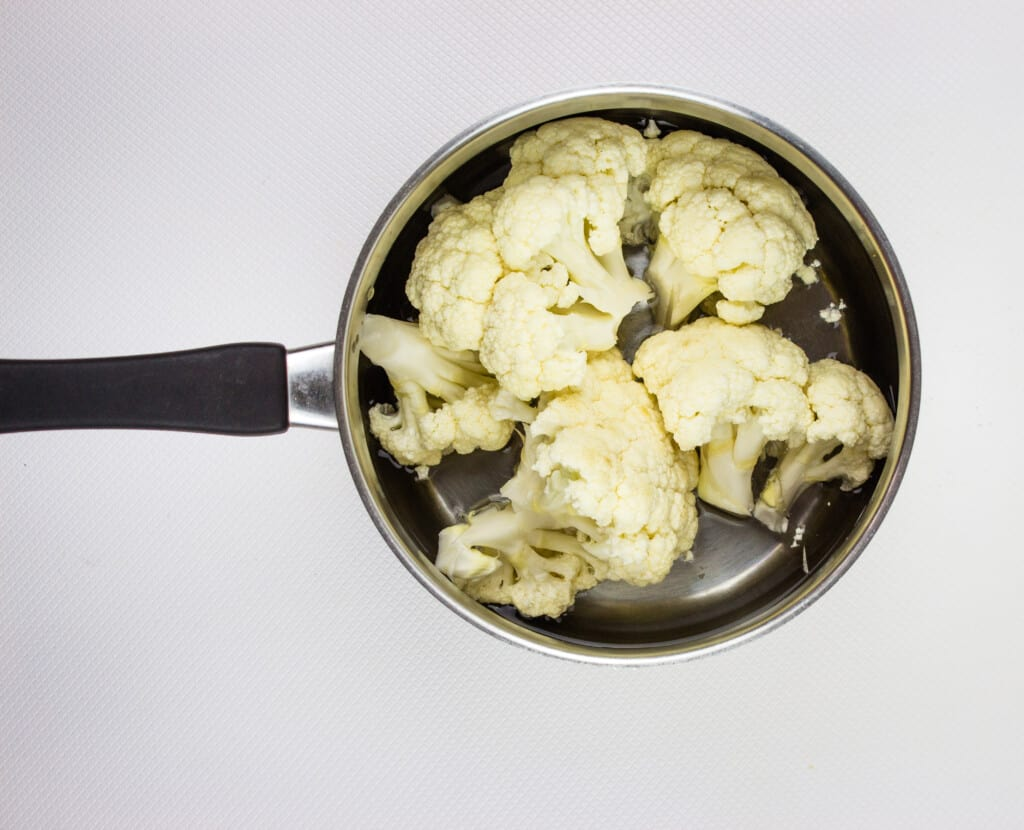 steam the cauliflower in just an inch of water