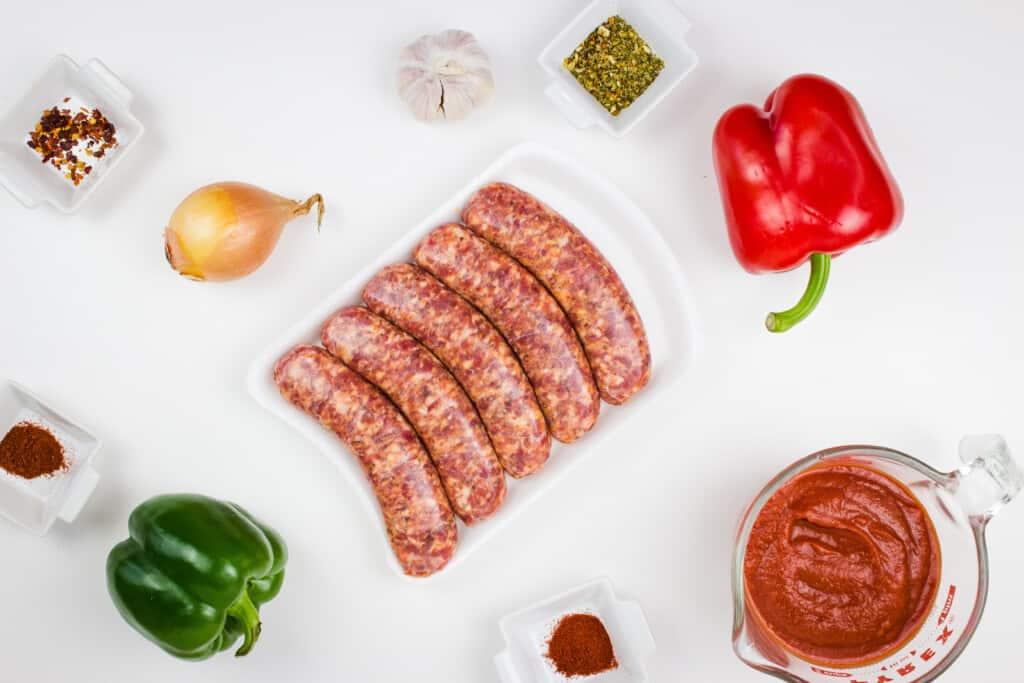 ingredients to make keto sausage stew