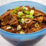 a closeup of easy keto chili