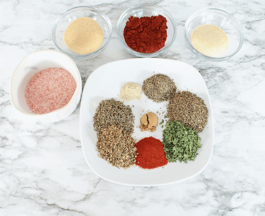 dry rub ingredients to make roasted cajun chicken