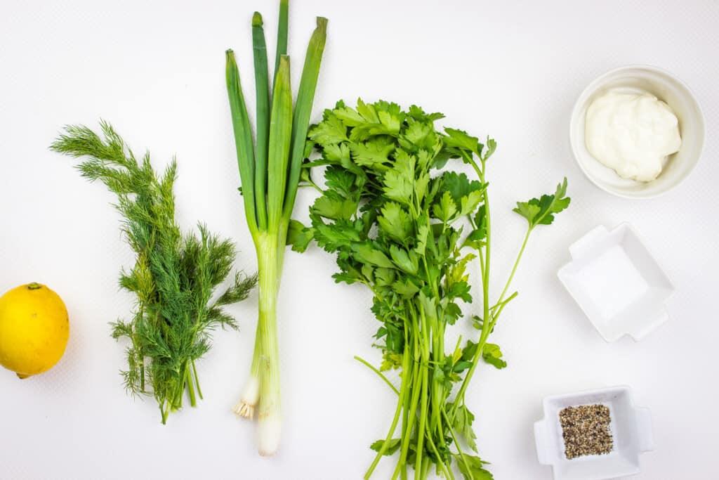 ingredients to make keto green goddess dressing