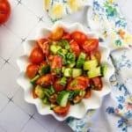 keto cucumber tomato salad