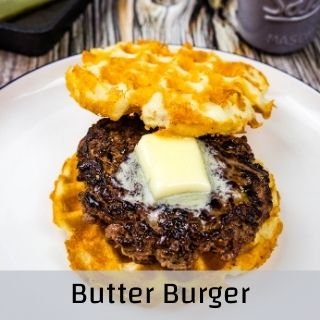 butter burger on a plate