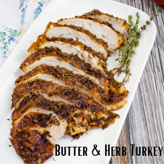 butter and herb turkey breast