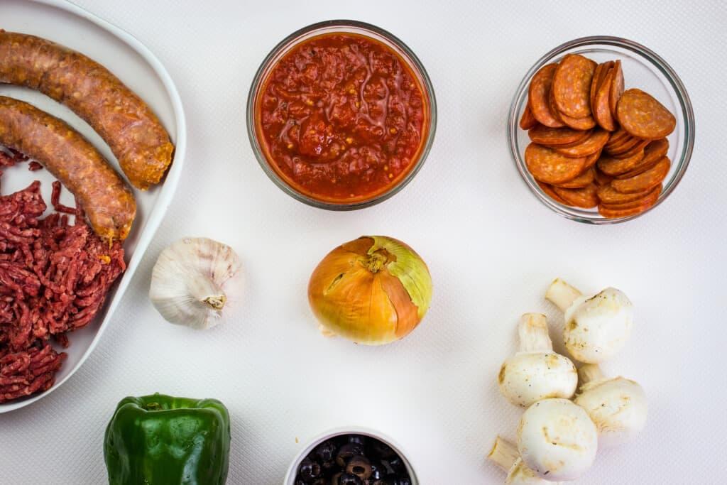 ingredients to make keto pizza casserole