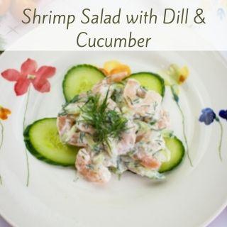 keto shrimp salad on a plate