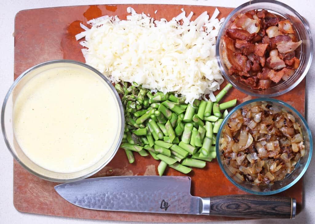 Ingredients to make keto breakfast casserole
