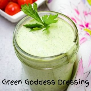 green goddess dressing in a jar
