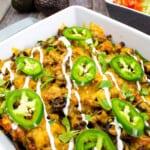 keto taco casserole in a serving dish