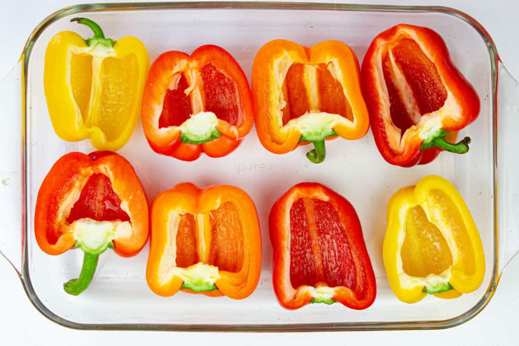 deseed gorgeous peppers