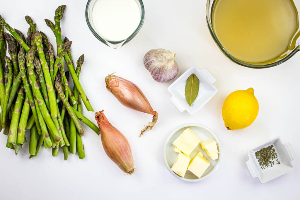 ingredients to make keto cream of asparagus soup