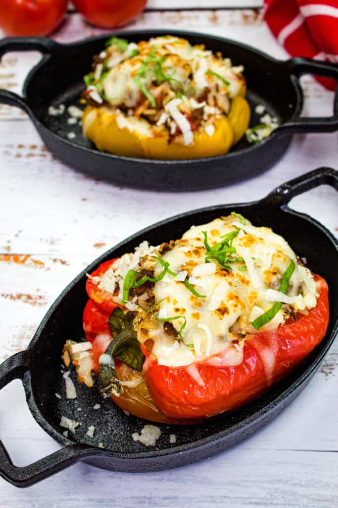 keto stuffed peppers - italian style