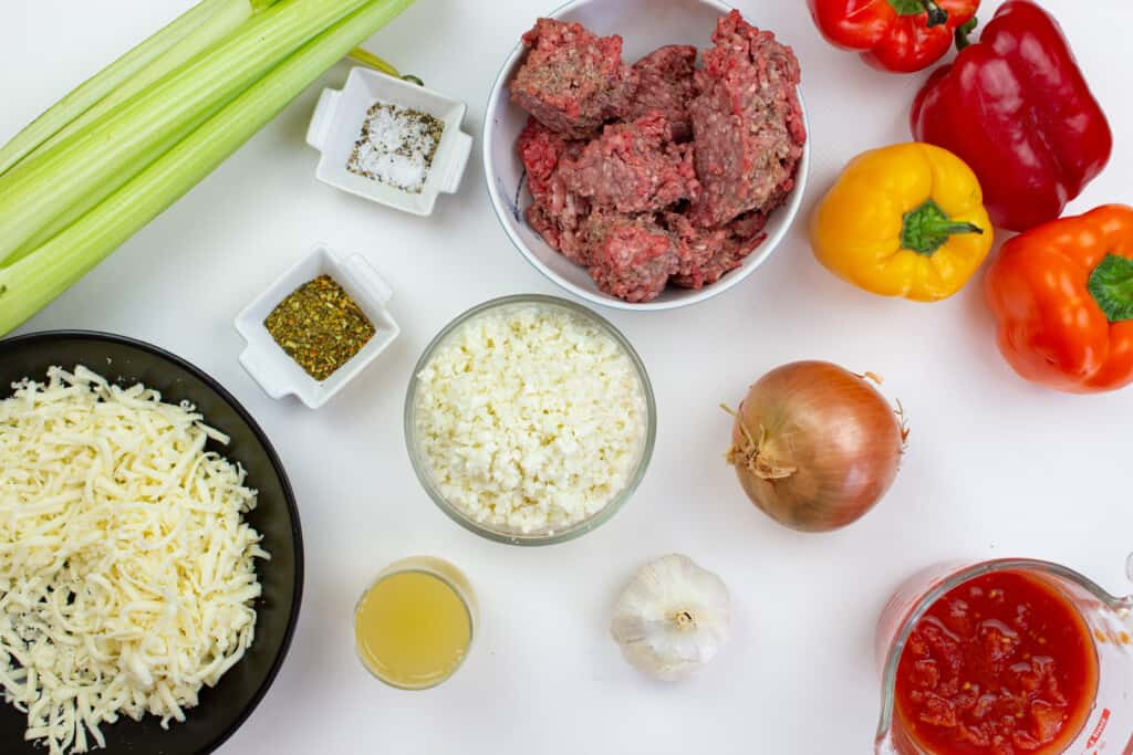 ingredients to make keto stuffed peppers
