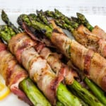bacon-wrapped grilled asparagus bundles