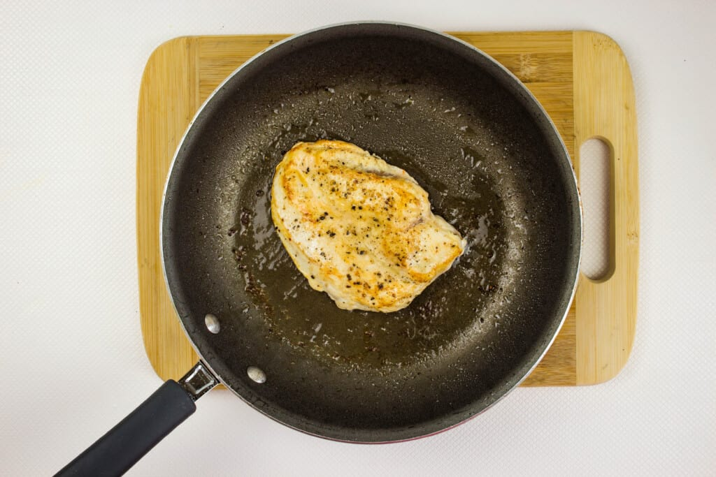 season chicken and brown in a skillet
