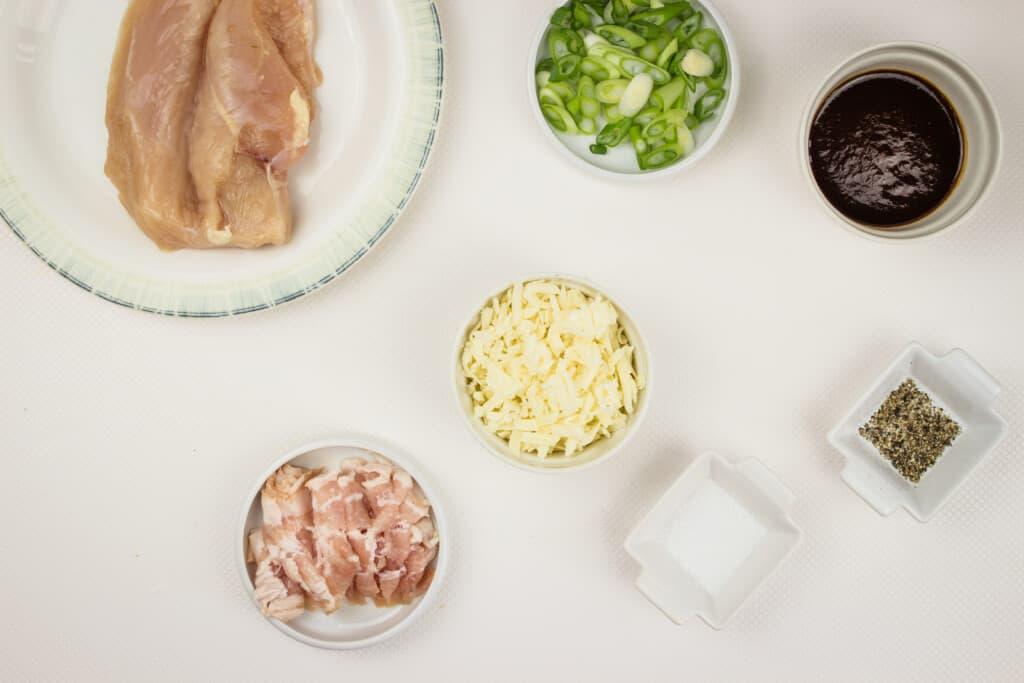 prepped ingredients to make keto monterey chicken