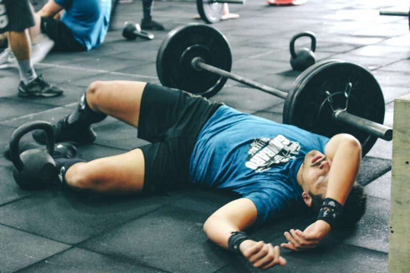 Tired Weight Lifter