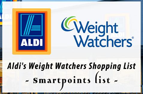 2018 ALDI WEIGHT WATCHERS SHOPPING LIST