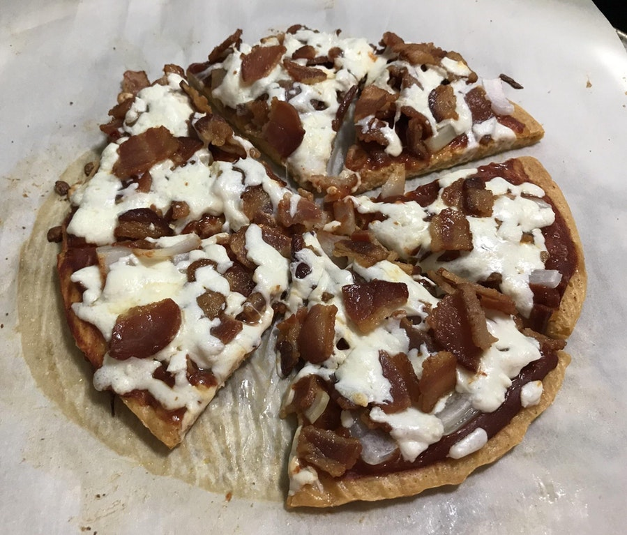 BBQ Bacon Pizza – A Smaller Crust Recipe
